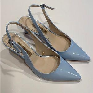 Zara Pointed Toe Slingback Heels